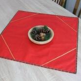 vianočný obrus štvorec IVICA - kombinácia s dlhým stredovým obrusom