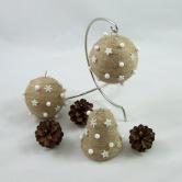 Vianočná dekorácia - guľa a zvonček SÍRIUS - závesná dekorácia