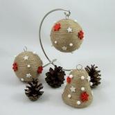 Vianočná dekorácia - guľa a zvonček AFRODITA