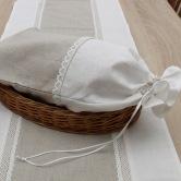 ľanové vrecko na chlieb LUCIEN - obal ne pečivo a chlieb