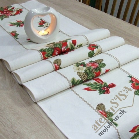 vianočný stredový behúň NIKOLETA - dlhý obrus, štóla