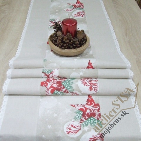 vianočný stredový obrus HENRIETA - behuň, štóla