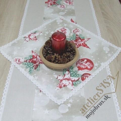 vianočný obrúsok štvorec HENRIETA