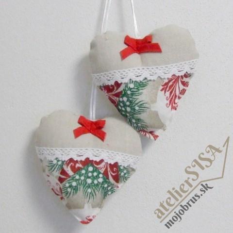 vianočné srdiečko HENRIETA - závesná dekorácia