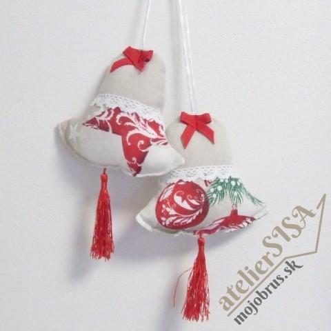 vianočný zvonček HENRIETA - závesná dekorácia