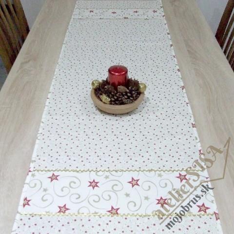 vianočný stredový obrus FILOMÉNA 2 - kombinácia so štvorcovým obrúskom