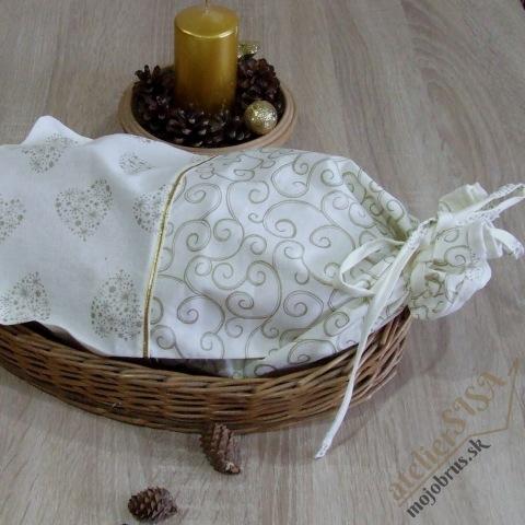 vianočné vrecko na chlieb ALŽBETA