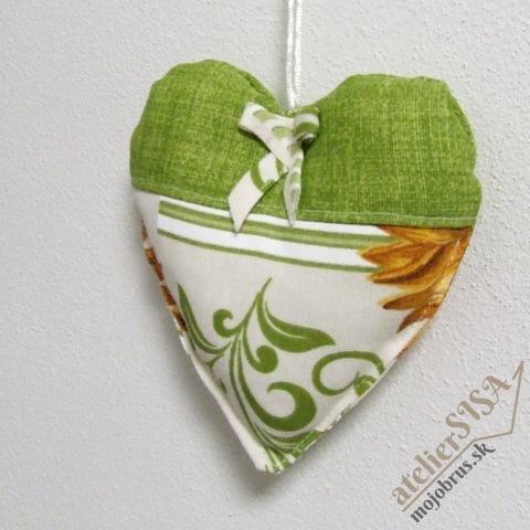 srdiečko PETRA - závesná textilná dekorácia