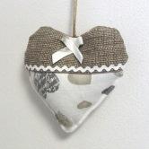 srdiečko MIŠO - závesná textilná dekorácia