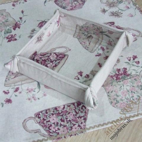 textilný košíček ETELA - ošatka