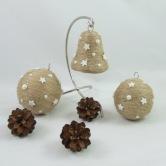 Vianočná dekorácia - guľa a zvonček ANDROMEDA
