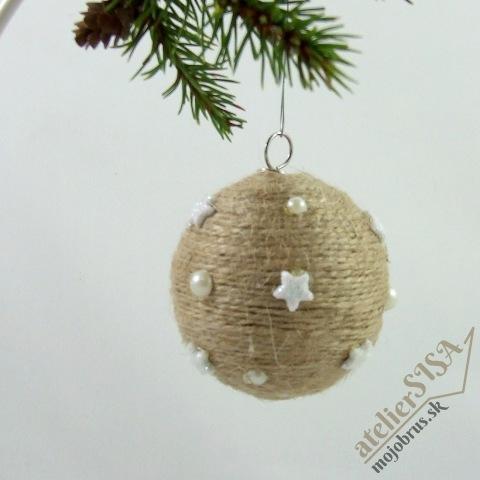 Vianočná dekorácia - guľa a zvonček ANDROMEDA - závesná dekorácia