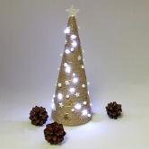 Vianočná dekorácia - stromček ORION - svietiaca voľne stojaca dekorácia