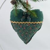 vianočné srdiečko TAMARA - závesná dekorácia