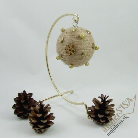 Vianočná dekorácia - guľa a zvonček GAIA