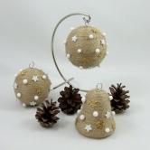 Vianočná dekorácia - guľa a zvonček ORION - závesná dekorácia