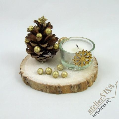 Vianočný svietnik APOLON - drevená dekorácia