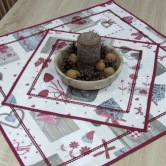 vianočný obrúsok štvorec BIBIANA