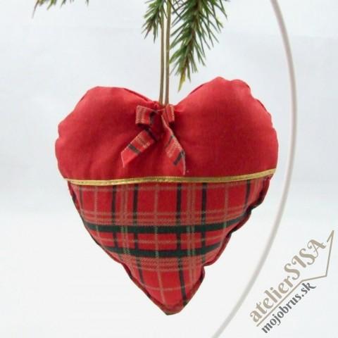 vianočné srdiečko IVICA - závesná dekorácia