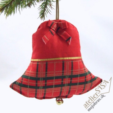 vianočný zvonček IVICA - závesná dekorácia