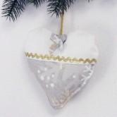 vianočné srdiečko GRACIA - závesná dekorácia