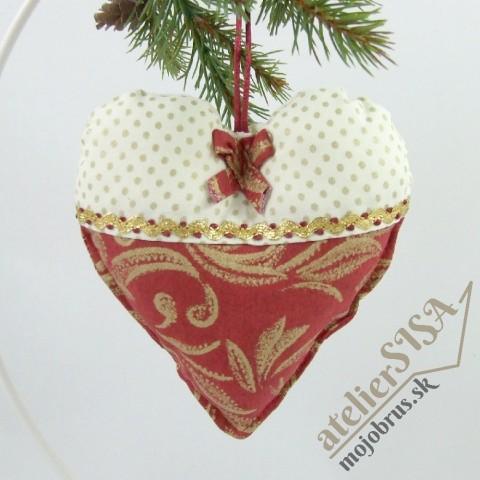 vianočné srdiečko LEONA - závesná dekorácia