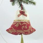 vianočný zvonček LEONA - závesná dekorácia