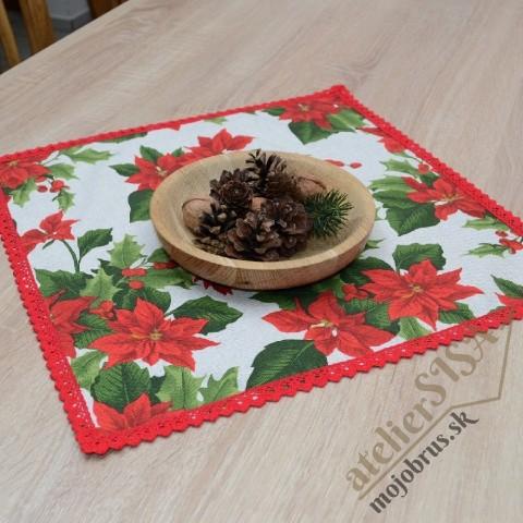 vianočný obrus štvorec SANDRA