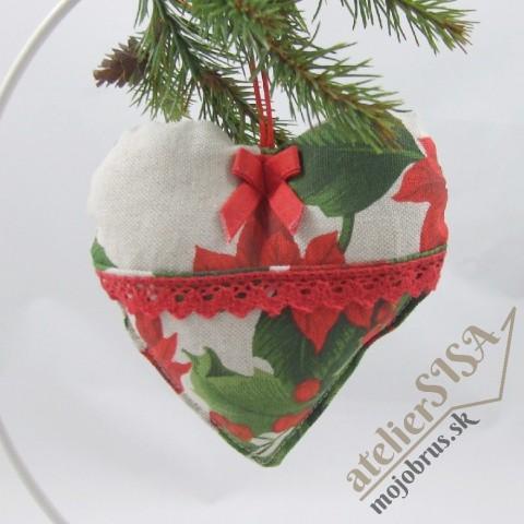vianočné srdiečko SANDRA - závesná dekorácia