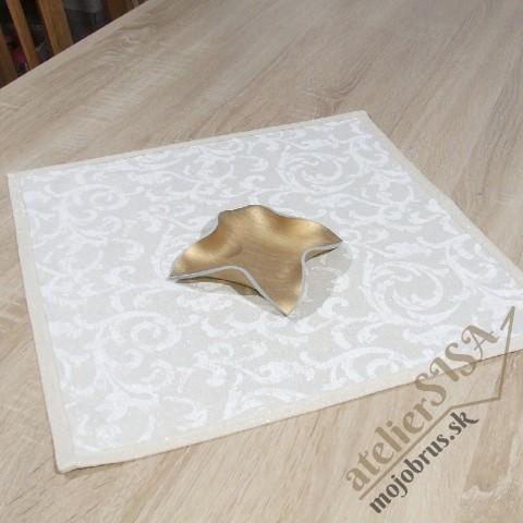 vianočný štvorec GOLD ORNAMENT - štvorcový obrus