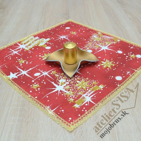 vianočný obrúsok štvorec OTÍLIA