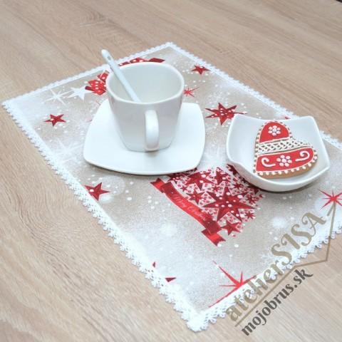 vianočné prestieranie OTÍLIA - jednoduché textilné