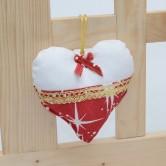 vianočné srdiečko OTÍLIA - závesná dekorácia