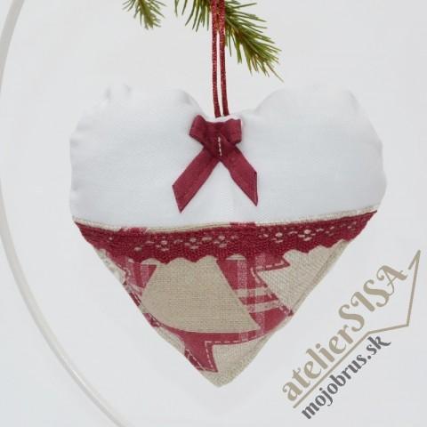 vianočné srdiečko DANIELA - závesná dekorácia