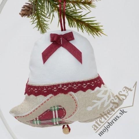 vianočný zvonček DANIELA - závesná dekorácia