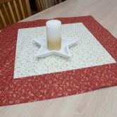 vianočný obrus štvorec IZABELA 1 - kombinovaný štvorcový obrus